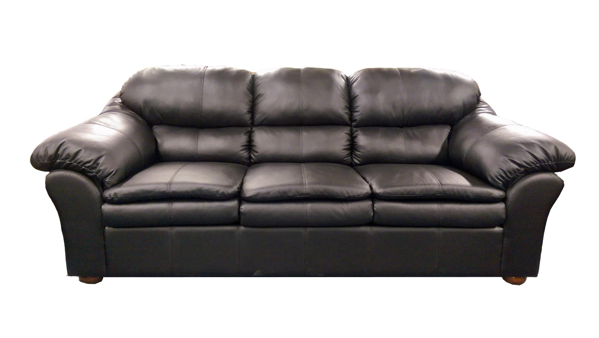 1690 Sofa And Loveseat In Bonded Leather Black