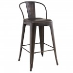 "Tivo 26"" Counter Stool in Gunmetal"