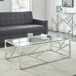 Juniper Coffee Table in Chrome by Worldwide Homefurnishings