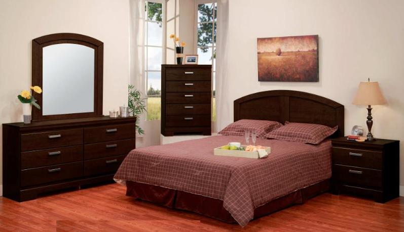 375 series malaga 5 pc bedroom set in cappuccino - Furniture malaga ...