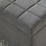 Lila Storage Ottoman in Grey by Worldwide Home Furnishings