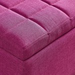 Lila Storage Ottoman in Pink by Worldwide Homefurnishings