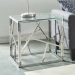 Juniper Accent Table in Chrome by Worldwide Homefurnishings