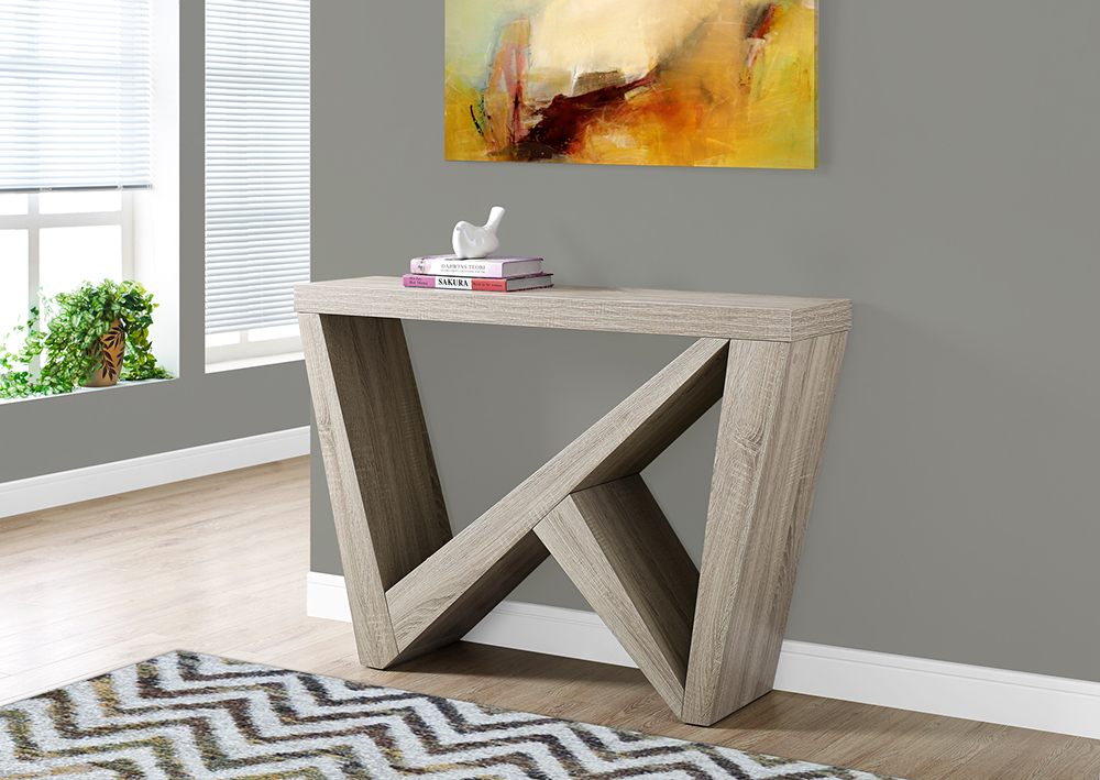 I 2435 Accent Table 48 Quot L Dark Taupe Hall Console