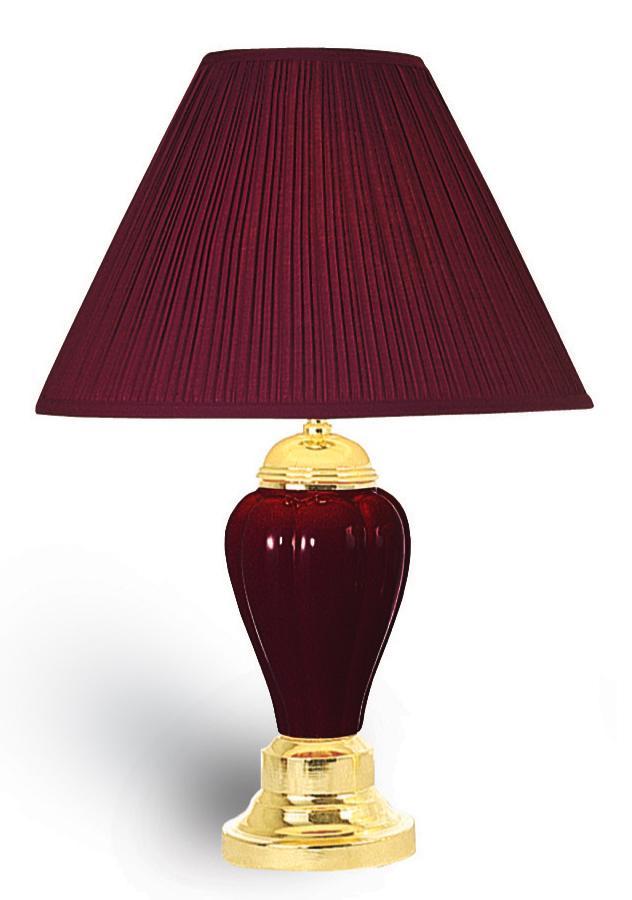 Ok 4101bda 24 Quot H Ceramic Table Lamp In Burgundy