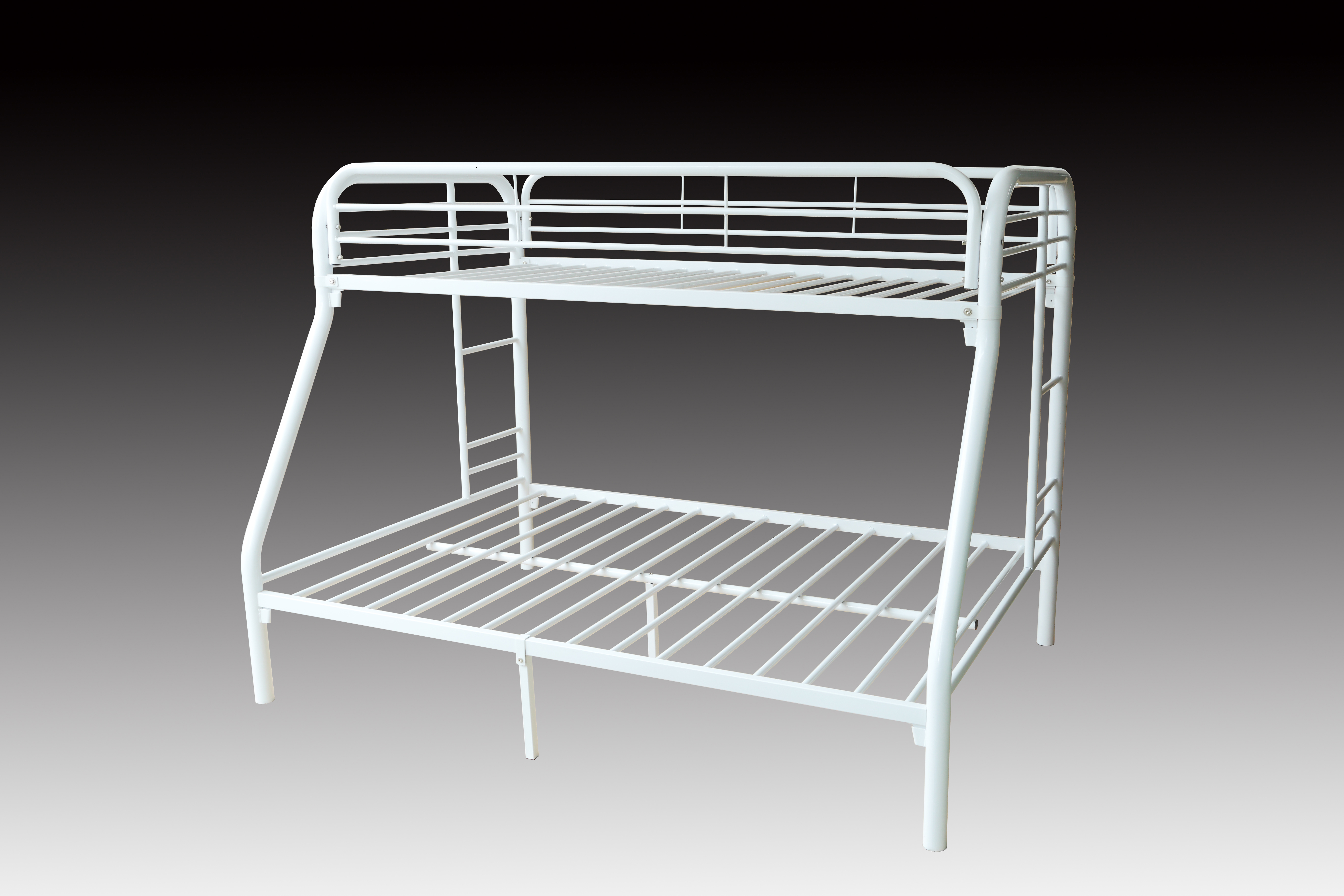 Twin double metal bunk bed frame white brand new for White bunk bed frame