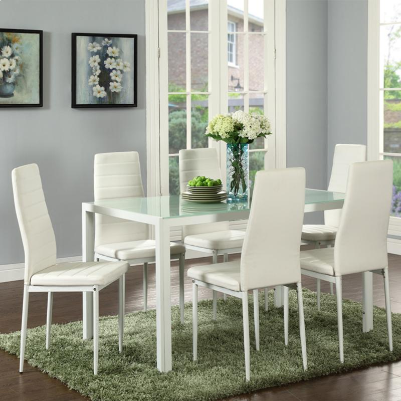 Contra 7pc Dining Set In Whte Brand New Winnipeg Furniture Store