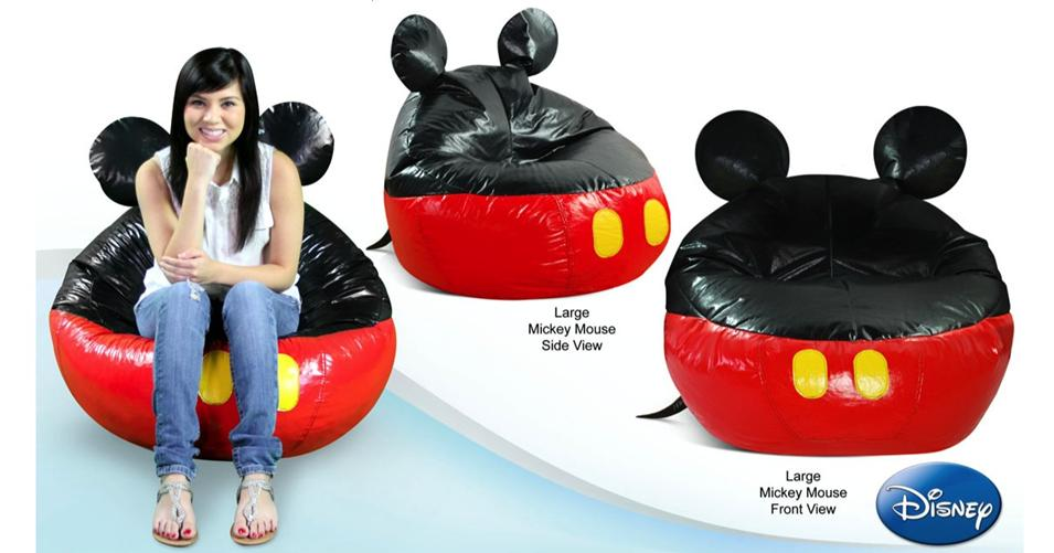Large Mickey Mouse Bean Bag Cover Winnipeg Furniture Store