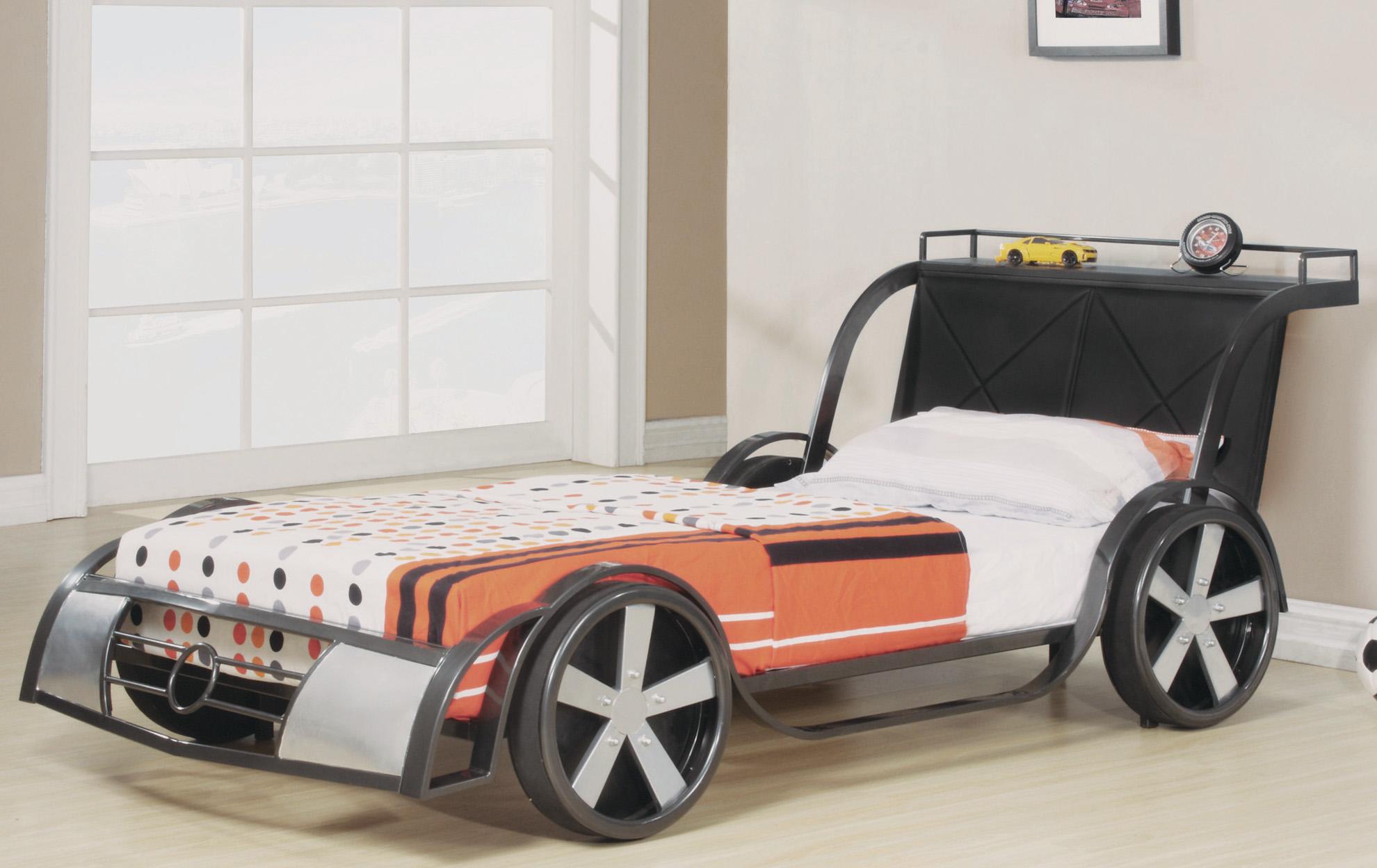 Rv8 Gunmetal Kids Bed Frame Race Car 39 Quot Brand New