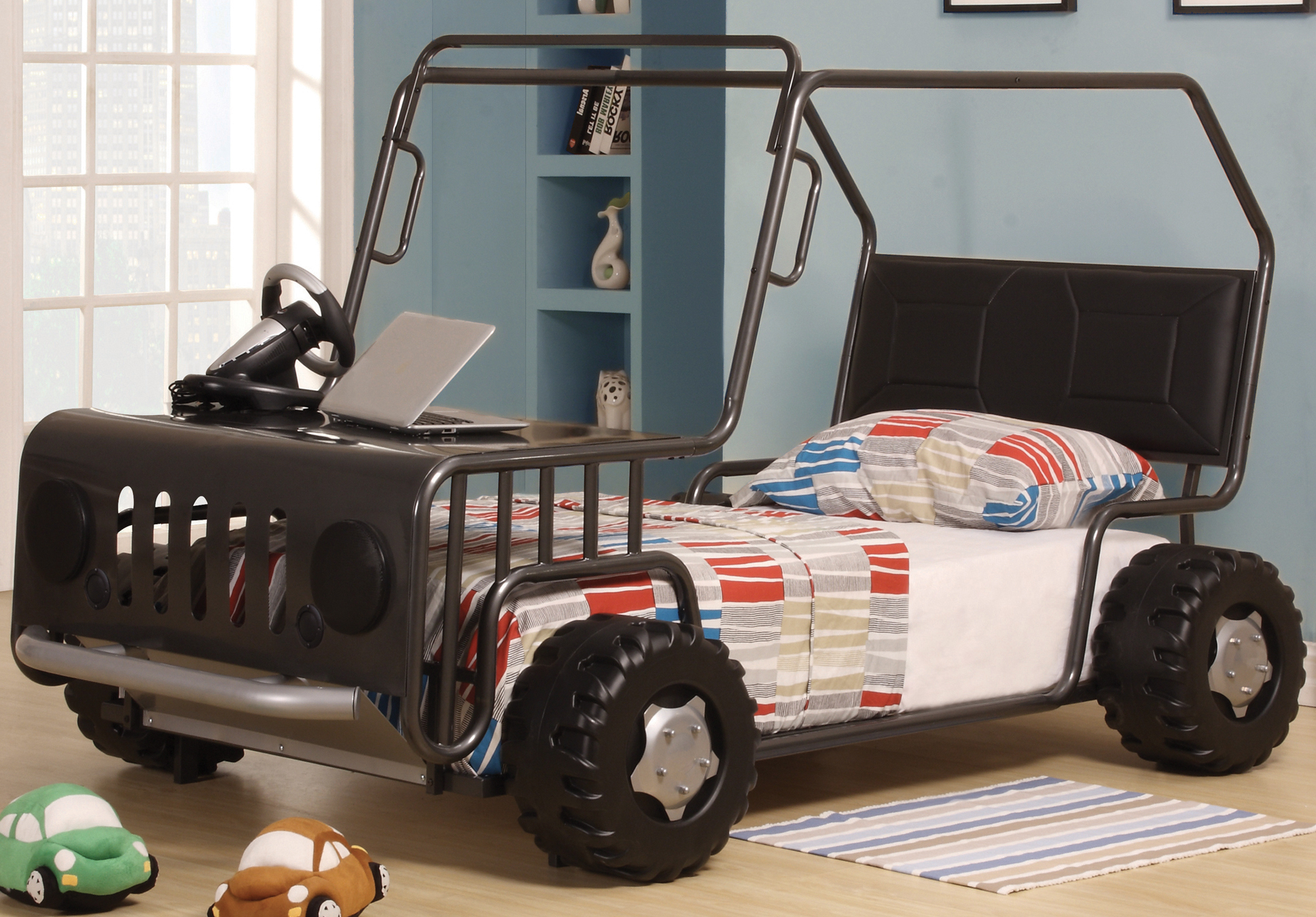 wrangler gunmetal kids bed frame jeep car bed