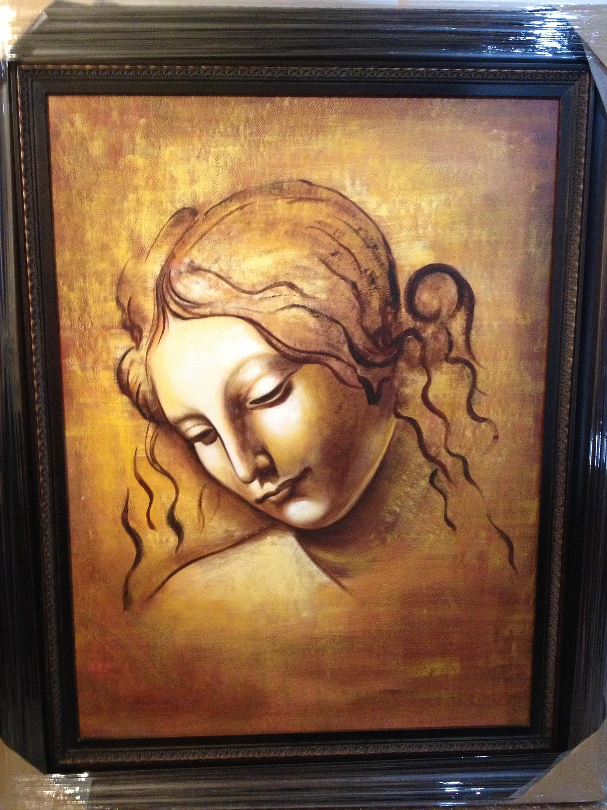 OIL PAINTING WITH FRAME - FACE