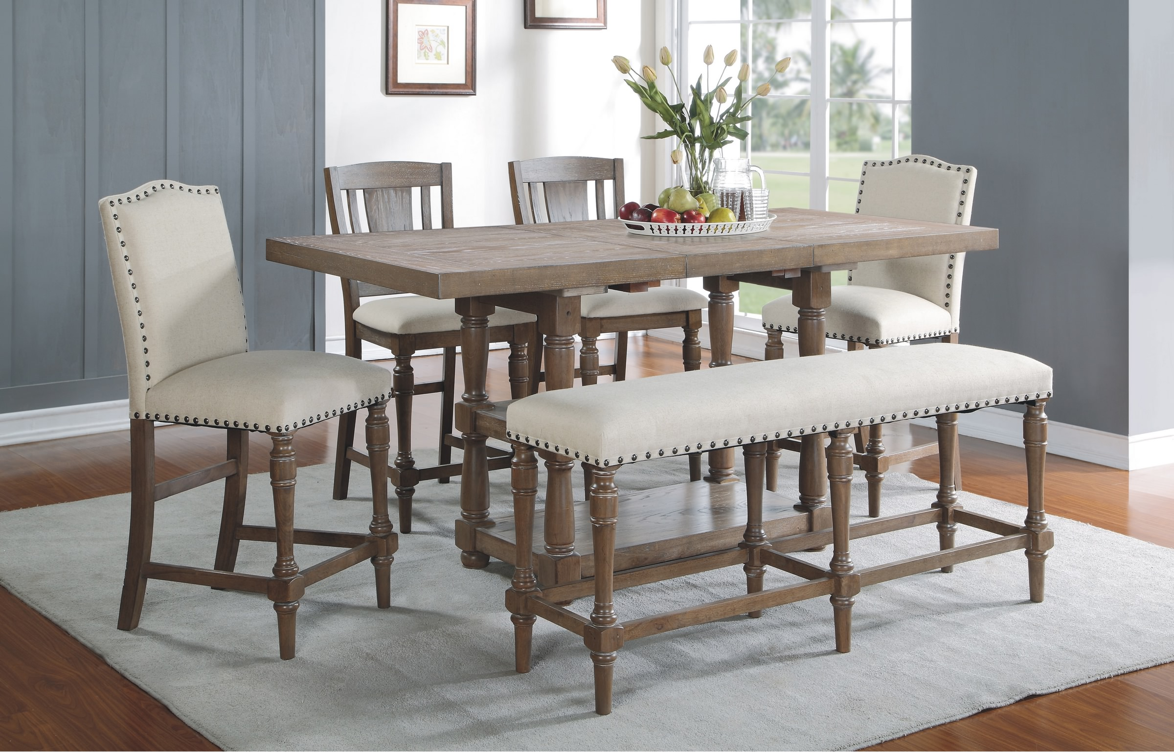 Sonoma 78 Quot Tall Table Only With 18 Quot Butterfly Leaf In Grey