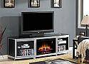 GOTHAM ELECTRIC FIREPLACE MEDIA CONSOLE IN BLACK