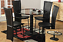 IF - 5061 5 PC Dinette Set with 10mm Tempered Glass - Glass Dining Table & 4 Chairs
