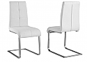KOLT SIDE CHAIR - WHITE FAUX LEATHER