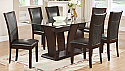IF-1050 - 7 PC Dining Set - Glass Table w/ 10mm Tempered Glass and 6 Chairs