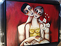 OIL PAINTING WITH FRAME - MAN & WOMAN