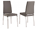 LEX SIDE CHAIR - GREY FAUX LEATHER