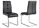 KOLT SIDE CHAIR - BLACK FAUX LEATHER