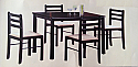 WINDFIELD - PROMOTIONAL TABLE & 4 CHAIRS - WALNUT