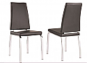 LEX SIDE CHAIR - BLACK FAUX LEATHER