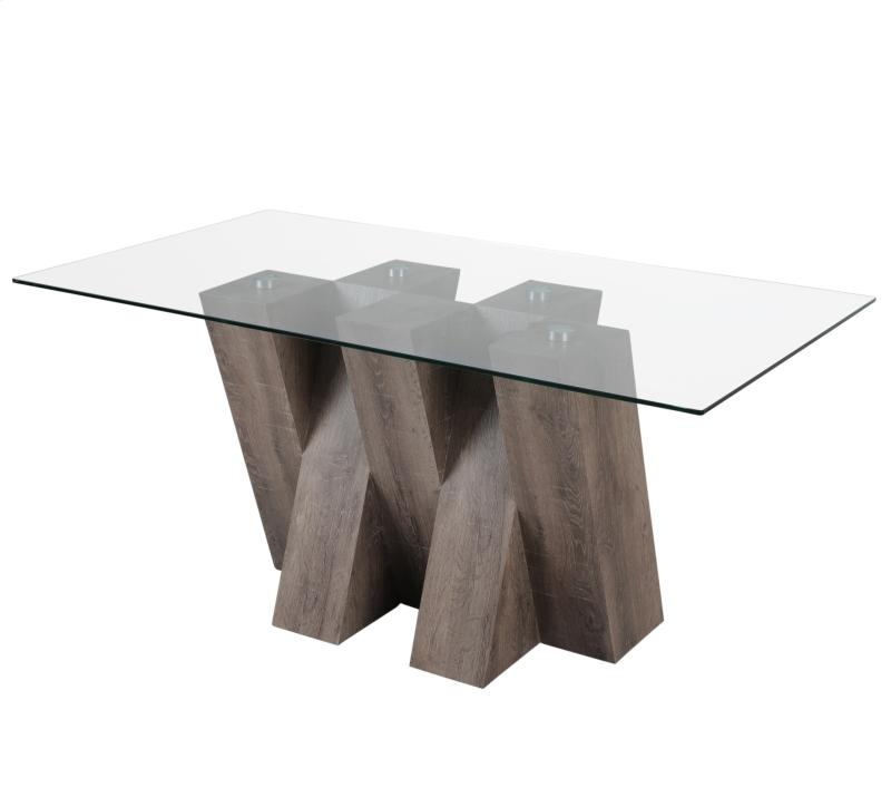 torro dining table in distressed grey