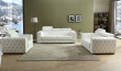 Charlise - 3Pc Sofa Set in White Leather Gel