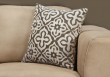 "I 9216 - PILLOW - 18""X 18"" / DARK TAUPE MOTIF DESIGN / 1PC"