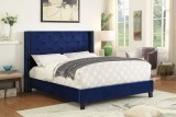 "Lino 60"" Bed in Blue Worldwide Home Furnishings"