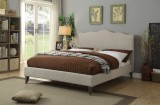 "Julie 60"" Bed in Beige by Worldwide Home Furnishings"