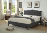 "Julie 60"" Bed in Grey by Worldwide Home Furnishings"