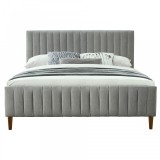 "Hannah 78"" King Platform Bed in Light Grey by Worldwide Homefurnishings Inc"