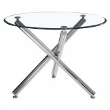 Solara II Dining Table in Chrome by Worldwide Homefurnishings Inc