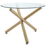 Carmilla Dining Table in Gold by Worldwide Homefurnishings