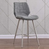 "Cooper 26"" Counter Stool in Grey Blend by Worldwide Homefurnishings Inc"