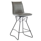 "Monaco 26"" Counter Stool in Grey by Worldwide Homefurnishings Inc"
