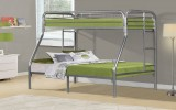 VENUS II - Silver Metal Twin / Double Bunk Bed Only