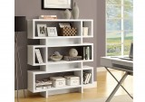 "I 2532 - WHITE HOLLOW-CORE 55""H MODERN BOOKCASE"