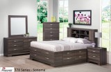 378 SERIES - SONOMA STORAGE BED BEDROOM SUITE IN CHABLIS PEAR