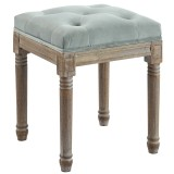 Colette Single Square Bench in Mauve by Worldwide Homefurnishings Inc
