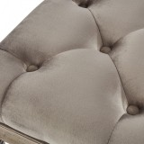 Colette Single Square Bench in Taupe by Worldwide Homefurnishings Inc
