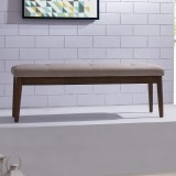 Leanne Double Bench in Beige by Worldwide Home Furnishings