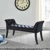 Velci Bench in Black by Worldwide Home Furnishings