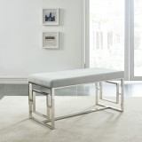Eros Double Bench in Silver and Grey by Worldwide Homefurnishings Inc