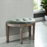 Azalea Single Bench in Slate Grey by Worldwide Homefurnishings