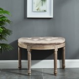 Azalea Single Bench in Taupe by Worldwide Homefurnishings