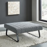Sirus Cocktail Ottoman in Grey Blend by Worldwide Homefurnishings
