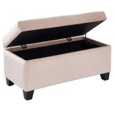Sally Storage Ottoman in Blush by Worldwide Homefurnishings
