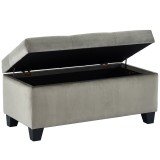 Sally Storage Ottoman in Grey by Worldwide Homefurnihings