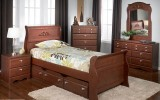 ENCHANTED 6PC TWIN SLEIGH TRUNDLE BED BEDROOM SUITE
